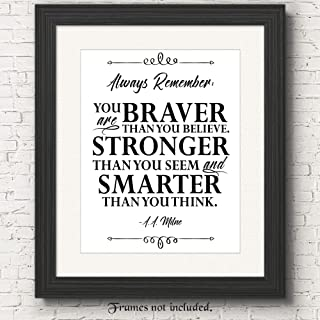 Always Remember Inspirational Poster Prints, (11x14) Unframed Picture, Great Wall Art Decor Gifts Under 15 for Daughters from Mothers, Sister, Mom, Nursery, Student, Children, Girls Room, DIsney Fan