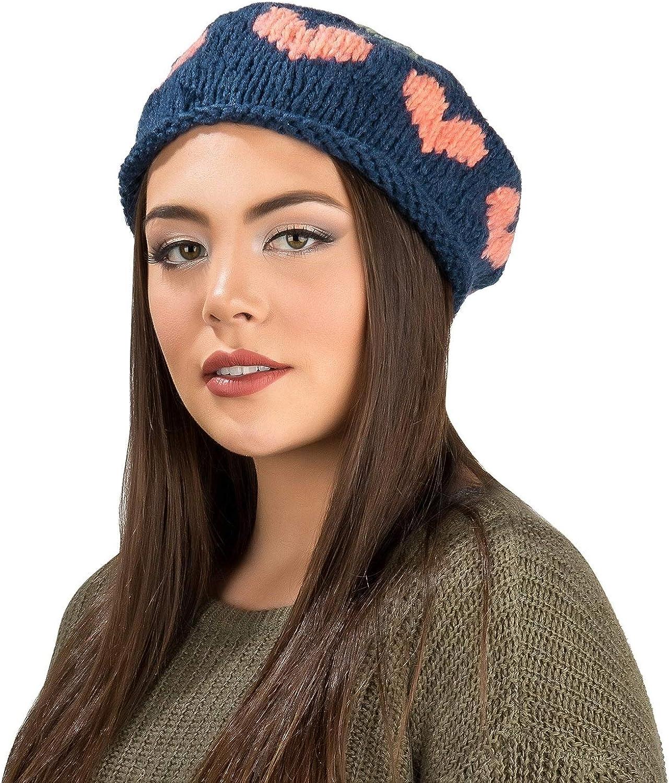 Aerusi Origin Winter Warm Women Beret Blue