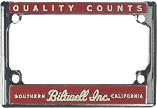 Biltwell LP-ZIN-DC-HF Chrome//Blue Ride Motorcycles License Plate Frame