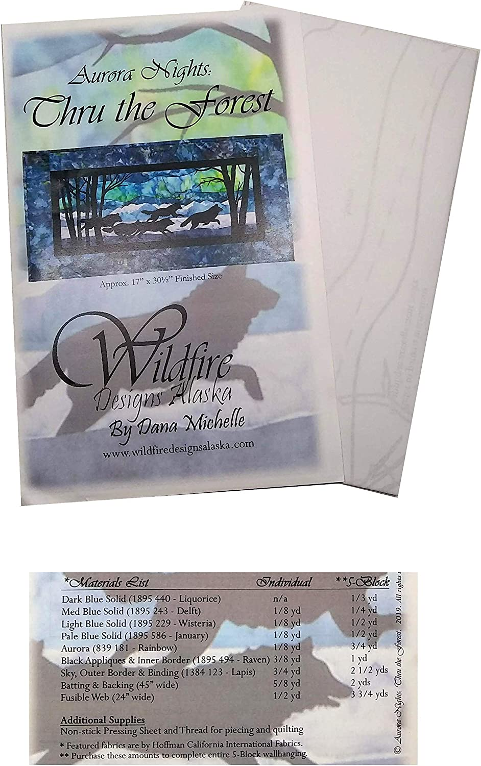 Wildfire Designs Alaska New mail order Quilt Pattern Aurora Collection: Nights OFFicial site