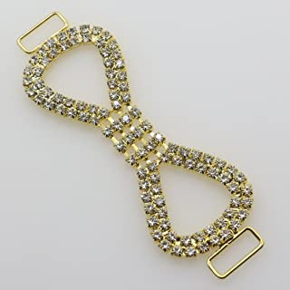 Fashion 6pc golden shiny rhinestone bikini Buckles Charm Metal Chain Buttons Crystal diamond Bikini Swimwear Connectors/ Buckle For Swimwear bag shoes with buckle for clothing embelishment ornament