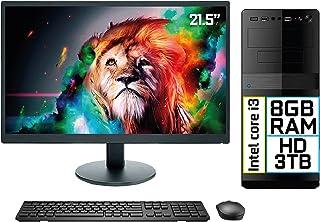 "Computador Completo Intel Core i3 8GB HD 3TB Monitor LED 21.5"" HDMI EasyPC Go"
