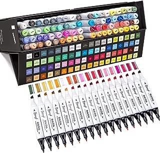 Bianyo Dual Tip Art Markers Set- Permanent Sketch Drawing Pens for Adults & Kids Coloring, Designing, Manga, Gift Box Set of 72