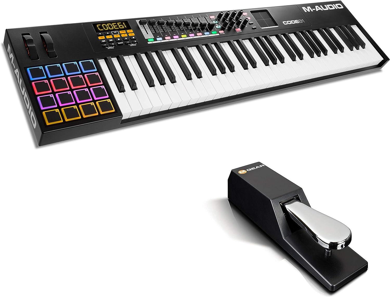 M-Audio Code 25 + SP-2 - Teclado Controlador MIDI USB con 25 ...