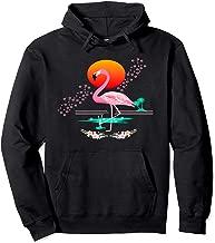 Japan Inspired Flamingo Sakura Cherry Blossoms Chopsticks Pullover Hoodie