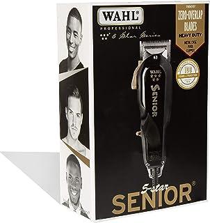 Wahl Professional سری 5 ستاره سری Senior Clipper # 8545 - عالی برای استادان حرفه ای و آرایشگران - V9000 موتور الکترومغناطیسی - سیاه و سفید - آلومینیوم