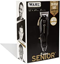 Wahl Professional 5-Star Series Senior Clipper #8545 – Great for Professional Stylists and Barbers – V9000 Electromagnetic Motor – Black --Aluminum metal bottom housing