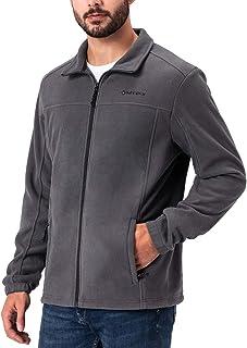 Naviskin Men's Full Zip Fleece Jacket Soft Light Outdoor Jacket