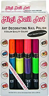 Migi Nail Art Nail Polish and Pen Duo, Neon Color Set