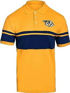 FOCO NHL Nashville Predators Mens Stripe Polo ShirtStripe Polo Shirt, Team Color, XL