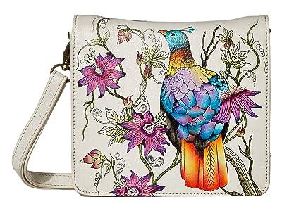 Anuschka Handbags Small Messenger 669 (Himalayan Bird) Handbags