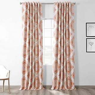 HPD Half Price Drapes BOCH-KC27-84 Blackout Room Darkening Curtain (1 Panel), 50 X 84, Henna