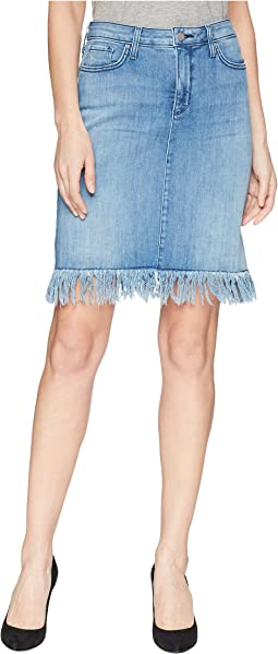 NYDJ Five-Pocket Skirt w/ Long Fray in Capitola