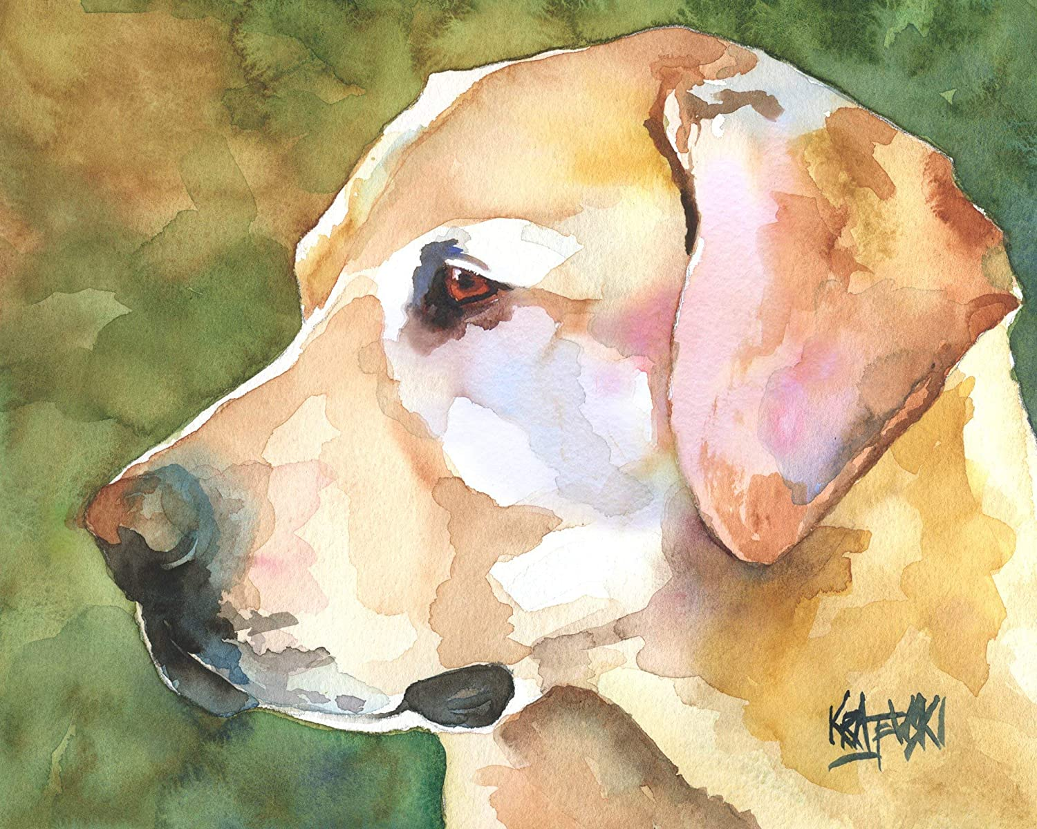 Yellow Labrador Dedication Retriever Art Print Lab Max 72% OFF Or From Gifts