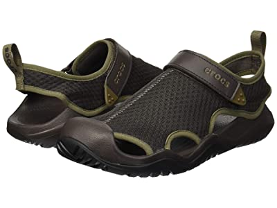 Crocs Swiftwater Mesh Deck Sandal (Espresso) Men