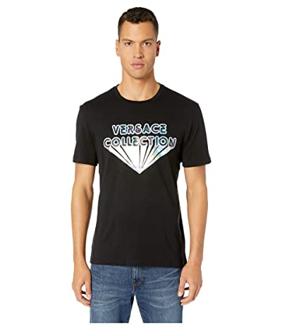 Versace Collection Girocollo Regolare T-Shirt (Black Patterned) Men
