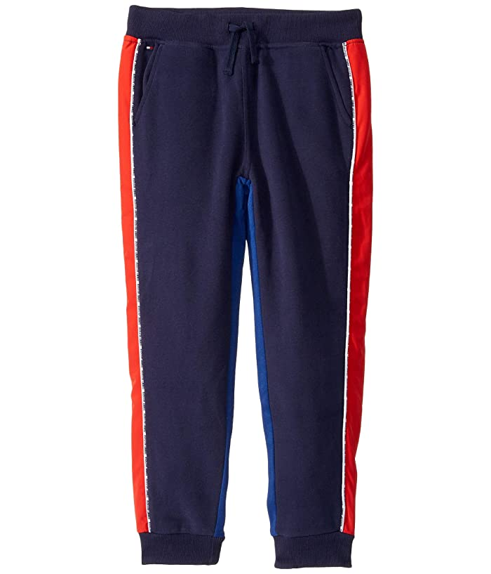 Tommy Hilfiger Adaptive  Jogger Pants with Elastic Waist (Little Kids/Big Kids) (Peacoat) Mens Casual Pants