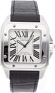 Cartier Santos Mechanical (Automatic) Silver Dial Mens Watch W20073X8 (Certified Pre-Owned