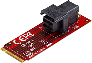 StarTech.com U2 إلى M.2 محول - لـ 1 × U2 PCIe NVMe SSD - واجهة المضيف M.2 PCIe x4 - يو 2 اس اس دي - محول بي سي اي ايه ام 2...