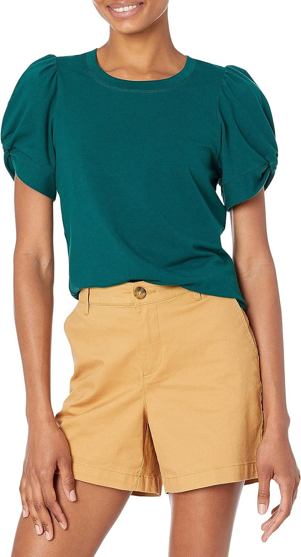 Amazon Essentials Women's Classic Fit Twist Sleeve Crew Neck T-Shirt