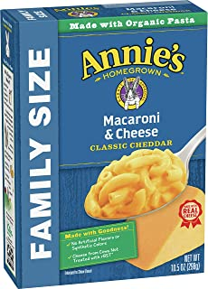 Annie's Classic Mild Cheddar Macaroni and Cheese, Family Size, 10.5 oz
