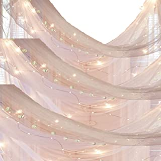 Basik Nature Square Mosquito Net Canopy - Cute College Dorm Decor Bundles - Netting with 40ft LEDs Fairy String Lights
