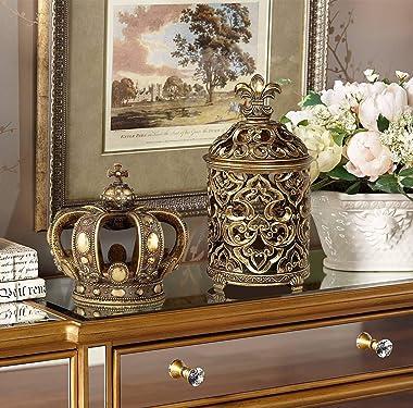 "Copper and Gold 6 3/4"" High Crown Sculpture - Kensington Hill"