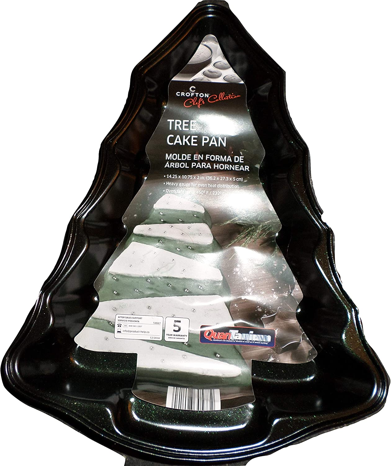 Crofton Chef's Collection Tree Cake New popularity Pan 10.75