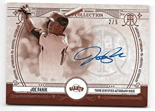 2015 Topps Museum Collection Baseball Joe Panik Archival Autograph Card # 2/5