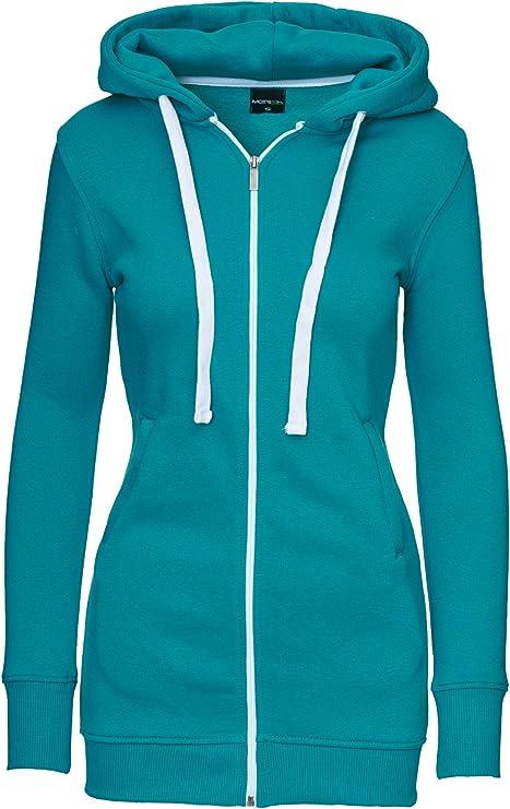 Merish Sweat capuch/é zipp/é Long pour Femme Style Moderne Parfait pour Les Loisirs et Sports Modell 222