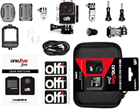 Olfi One.Five Waterproof 4K Black Edition Action Camera (2nd Gen.) with Stabilisation, WiFi Plus Interchangeable and Recha...