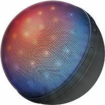 Trust Urban Dixxo Orb - Altavoz portátil con iluminación LED, Bluetooth y Lector Micro-SD, Color Gris