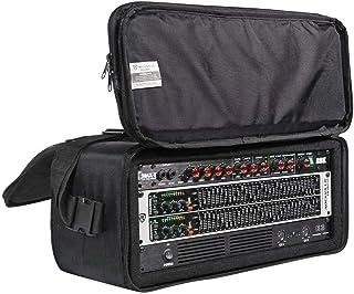 """Rockville 4U Rack Bag Double-Sided Case with 12"""" Depth + Shoulder Strap (RRB40)"""