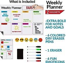 FADS Weekly Dry Erase Calendar, (17x12