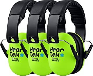 HEARTEK Kids Earmuffs Hearing Protection with Travel Bag- Junior Ear Defenders for Children, Padded Baby Ear Protection, Infants, Small Adults, Women - Adjustable Protectors Noise Reduction Ear Muffs