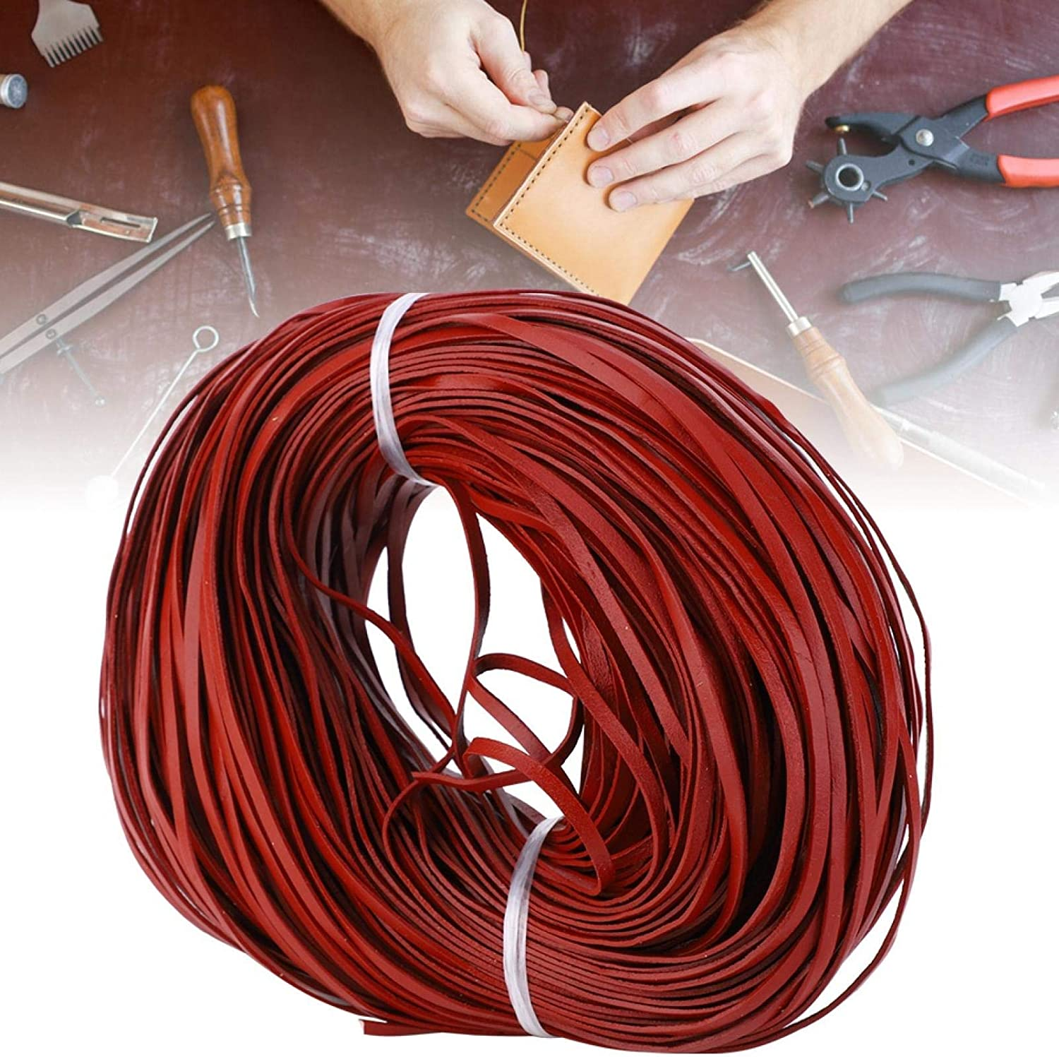 Challenge the lowest price of Japan ☆ Leather Beading Cord Strip Manual DIY Manufacturer regenerated product Jewel