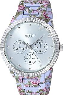 ساعة اكس او اكس او انالوج كوارتز للنساء مع حزام من السيراميك, بنفسجي، 17.8 - XO5890)