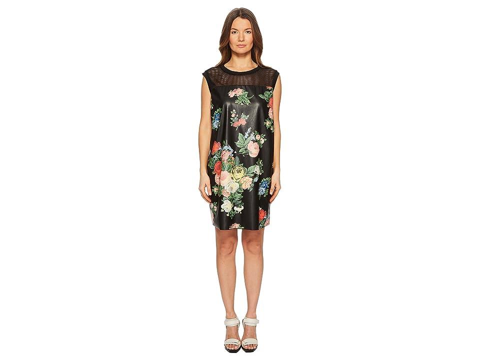 Sportmax Maratea Sleeveless Floral Dress (Black) Women