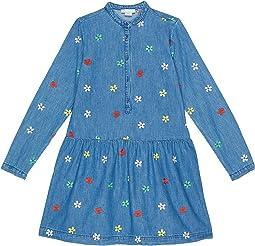 Denim Dress with Flower Embroidery (Toddler/Little Kids/Big Kids)