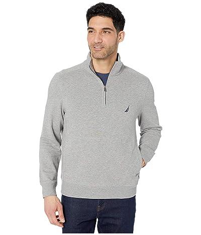 Nautica 1/4 Zip Fleece Pullover (Black 1) Men