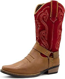 bf7f9432ddfb Kick Footwear Pull On Mens Leather Cowboy Boots Ankle Western Long Smart  Cuban Heel Men Shoes