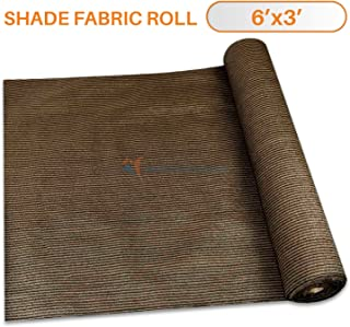 TANG Sunshades Depot 6'x3' Shade Cloth Brown Fabric Roll Up to 95% Blockage UV Resistant Mesh Net for Outdoor Backyard Garden Plant Barn Greenhouse Weddings Placemat Crafts Decorate Swing