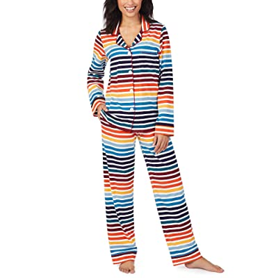 BedHead Pajamas Organically Grown Cotton Elastane Long Sleeve Classic PJ Set (On The Horizon) Women