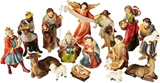 Faithful Treasure 15-Piece Nativity Figurine Set. Hand-Painted Christmas Nativity Scene, 4