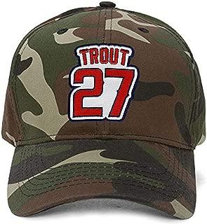 Mike Trout Hat - Los Angeles Baseball Adjustable Cap (Camo)