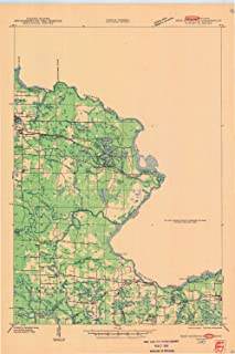 YellowMaps Iron Mountain WI topo map, 1:48000 Scale, 15 X 15 Minute, Historical, 1947, 27.11 x 18.01 in