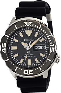 SEIKO Prospex Monster Diver's 200M Black Dial Silicone Strap Watch SRPD27K1