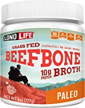product image for Beef Bone Broth Powder by LonoLife, Grass Fed, 10g Collagen Protein, Keto & Paleo Friendly, Low-Carb, Gluten Free, 8oz Bulk Container - 15 Servings
