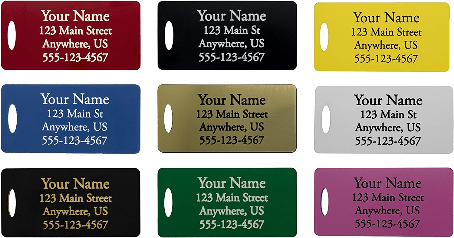 Personalized Plastic Luggage Financial sales sale Tags Online limited product