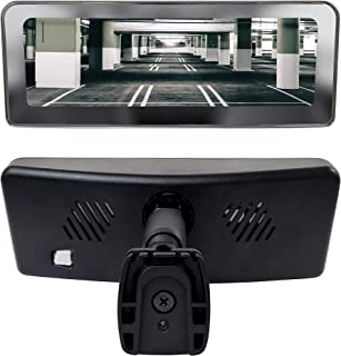 Master Tailgaters Frameless Rear View Mirror with 7 LCD Display and 4 Video Inputs - for Multi Camera Setups + Two Free Side Cameras